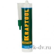 Герметик силиконовый санитарный белый, для помещений с повышенной влажностью (300 мл) KRAFTOOL