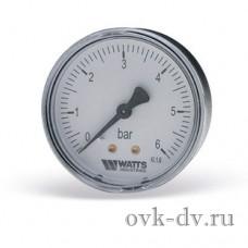 """Манометр 50 / 1/4"""" / 10 бар. аксиальный Watts"""