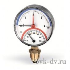 """Термоманометр вертикальный 1/2""""/120*С/10 бар Watts"""