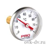 Термометр аксиальный, биметаллический d 40 mm (0-80*С) ProFactor