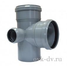 Крестовина канализационная двухплоскостная PP D 110/110/50*87 левая Sinikon