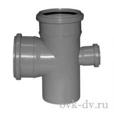 Крестовина канализационная одноплоскостная PP D 110/110/50*87 Sinikon