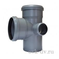 Крестовина канализационная двухплоскостная PP D 110/110/50*87 правая Sinikon