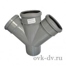 Крестовина канализационная одноплоскостная PP D 110/110/110*45 Sinikon