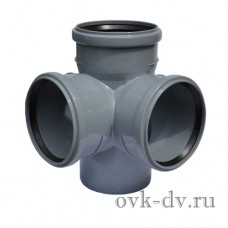 Крестовина канализационная двухплоскостная PP D 110/110/110*87 Sinikon