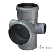 Крестовина канализационная двухсторонняя PP D 110/110/50*87 Sinikon