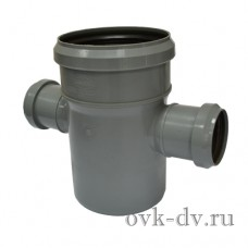 Крестовина канализационная одноплоскостная PP D 50/110/50*87 Sinikon