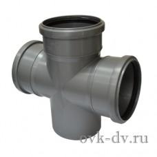Крестовина канализационная одноплоскостная PP D 110/110/110*87 Sinikon