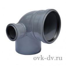 Отвод с левым патрубком 110/50*87 Sinikon