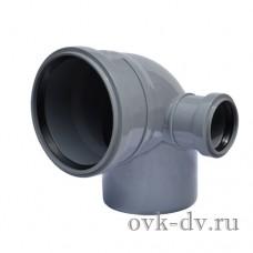 Отвод с правым патрубком 110/50*87 Sinikon