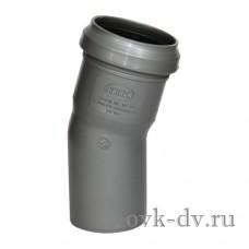 Отвод канализационный PP D 110 15 градусов Sinikon