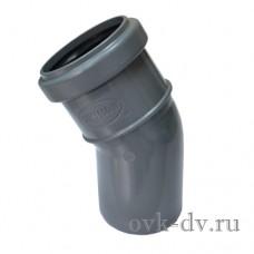 Отвод канализационный PP D 110 30 градусов Sinikon