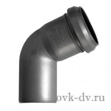 Отвод канализационный PP D 50 67 градусов Sinikon