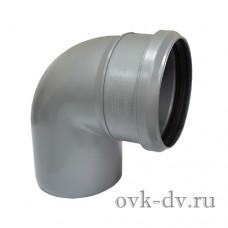 Отвод канализационный PP D 110 87 градусов Sinikon