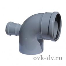 Отвод с фронт. патрубком (выход сзади) 110/50*87 Sinikon