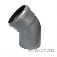 Отвод канализационный PP D 110 45 градусов Sinikon