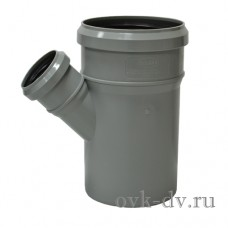 Тройник канализационный PP D 110/50*45 Sinikon