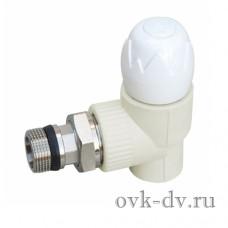 "Кран угловой для отопления PPR 20х1/2 НР тип 2 (шар PPSU) ""Blue Ocean"""