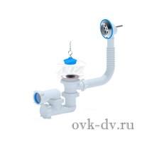 """Сифон для ванны регулируемый с выпуском и переливом 1½"""" Е250 Анипласт"""